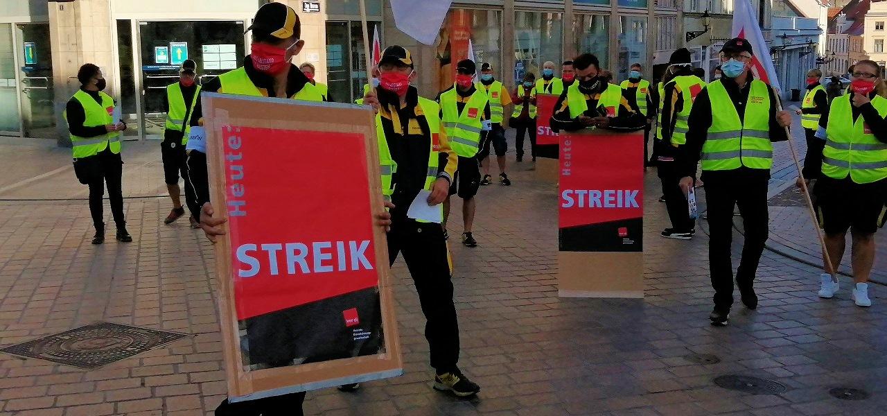 Warnstreiks bei der Deutschen Post AG werden heute und morgen fortgesetzt